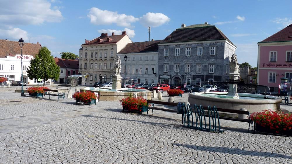 Boehmische Grenztour 019 Stadtplatz in Retz