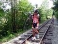 Boehmische Grenztour 004 Bergbeisser auf Schienen
