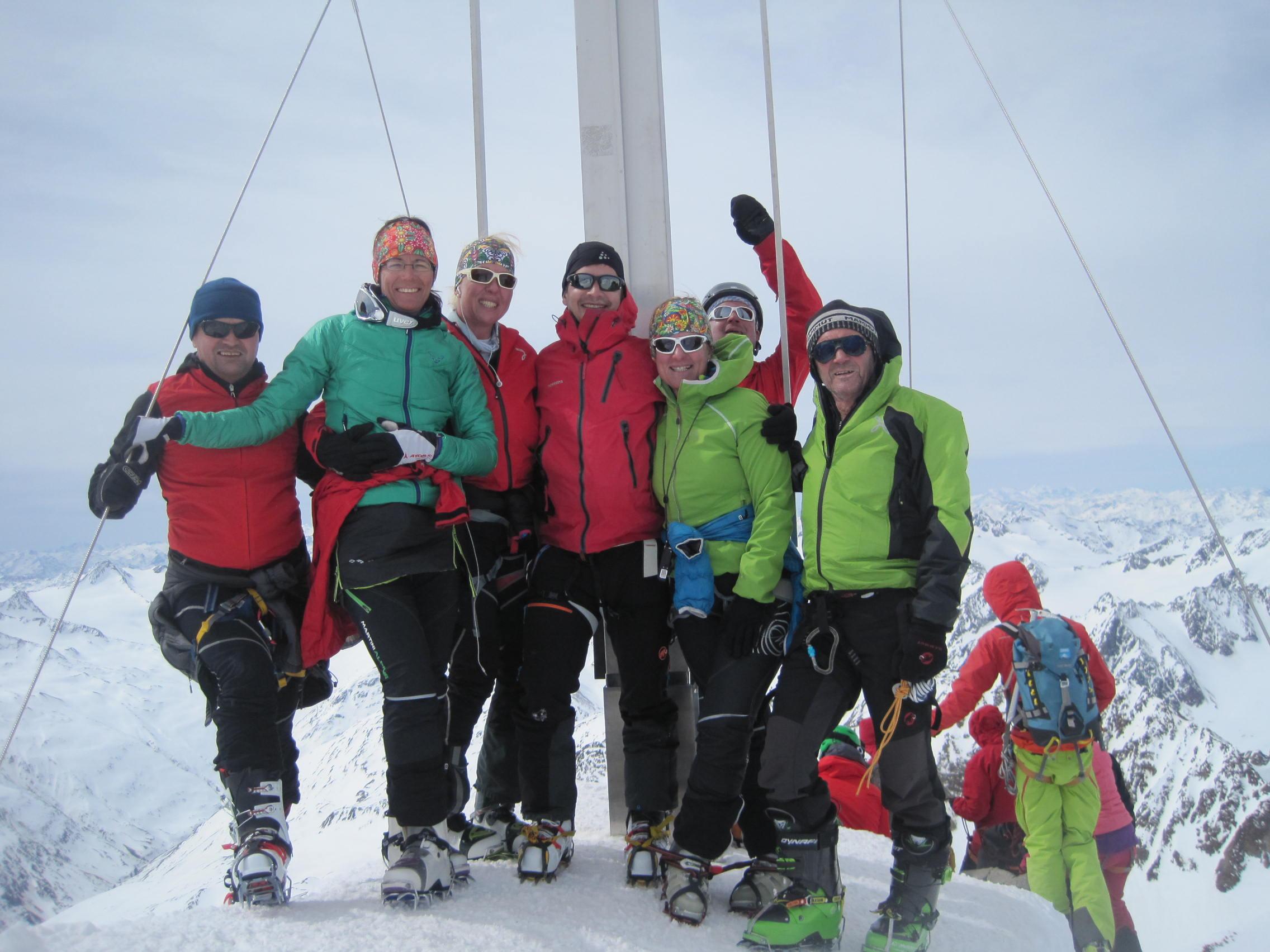 56 Am zweithöchsten Berg Österreichs Wildspitze 3.768 m